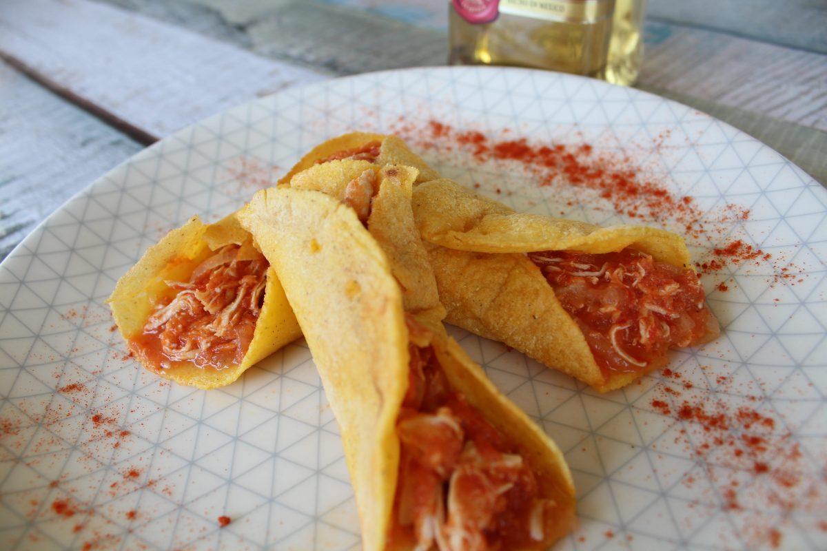 טורטיה מקמח תירס עם עוף ברוטב עגבניות- מעדן