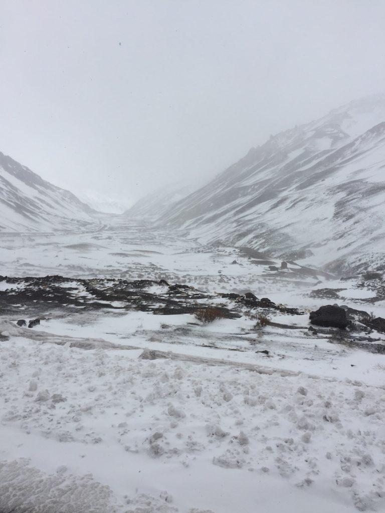 סופת שלגים בדרך למנדוסה