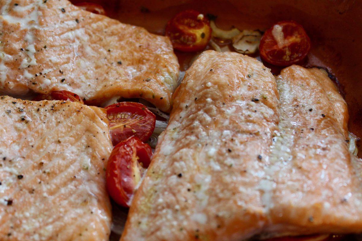 הדג אחרי 12 דקות בתנור