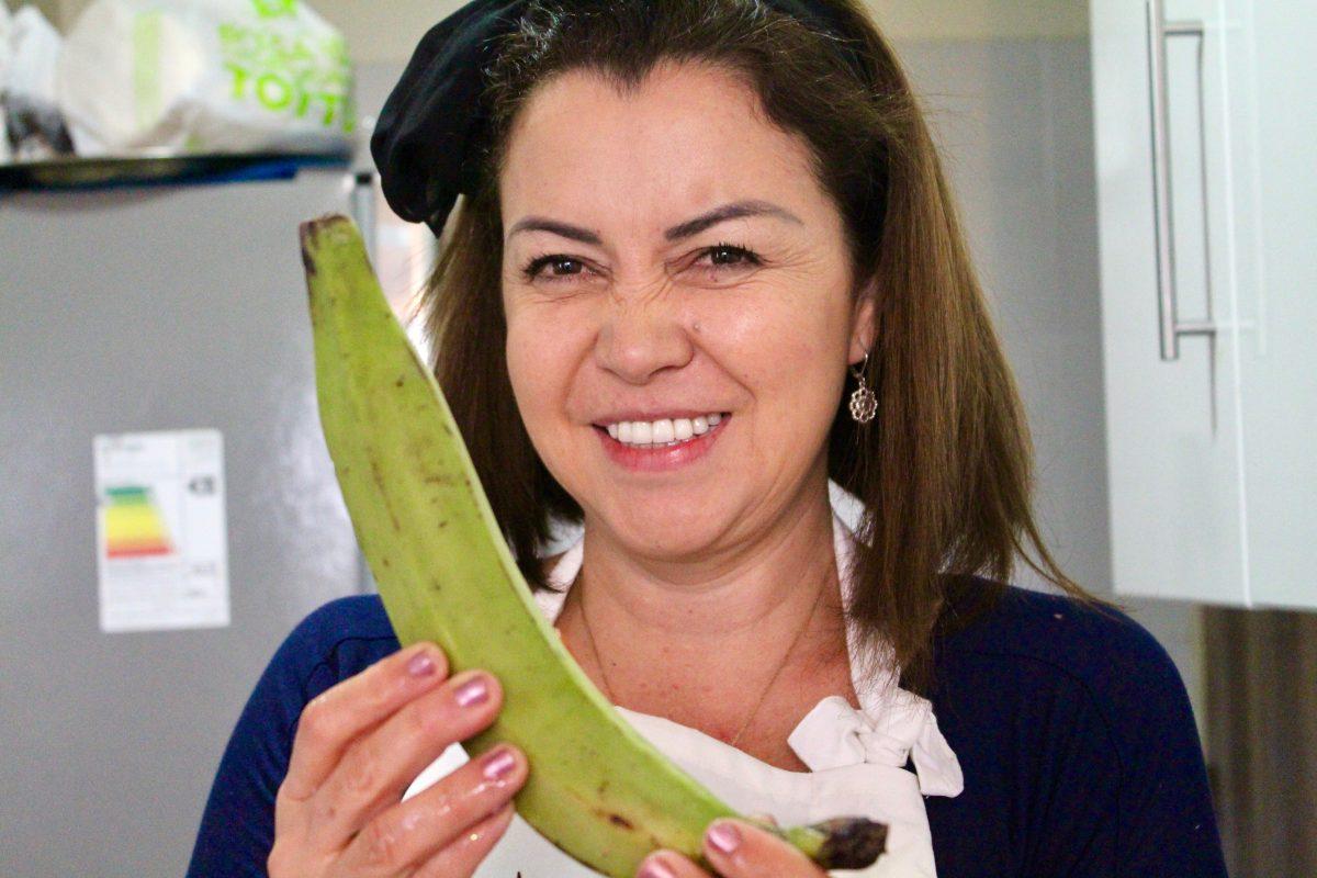 כריסטינה עם בננה ירוקה