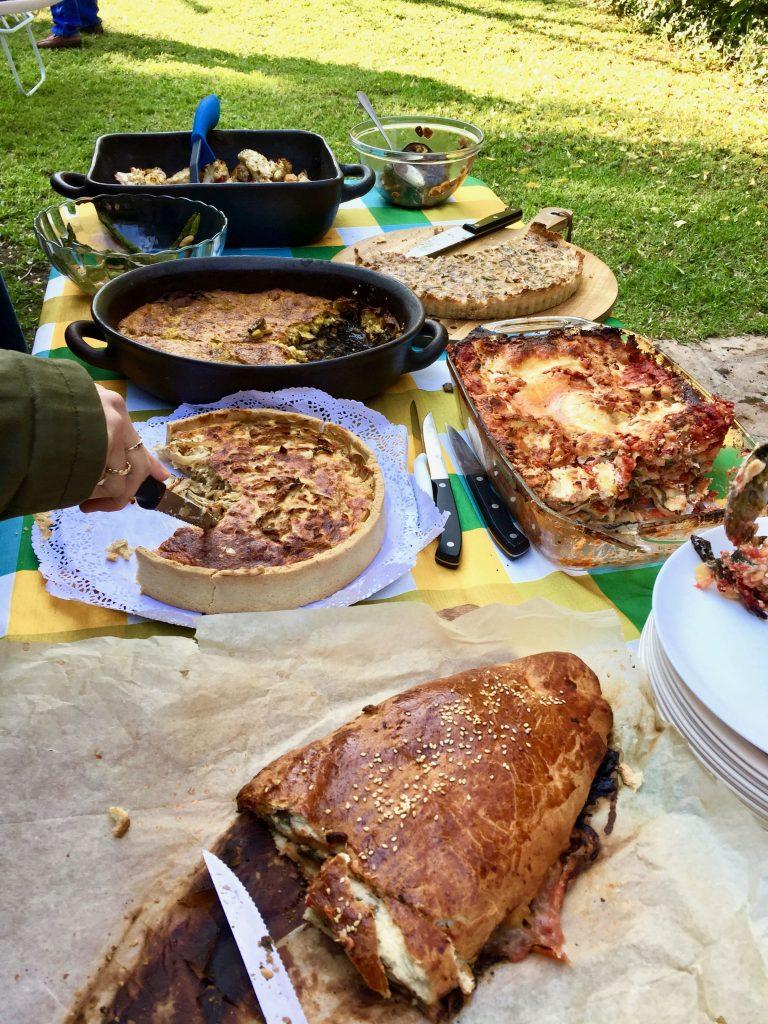 מאפה התירס הצמחוני בשולחן חג השבועות