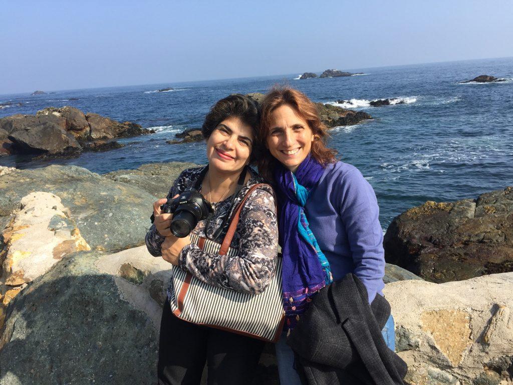 אלפנה ואני בטיול משותף